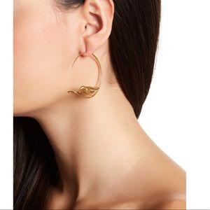 NWOT Tory Burch dove hoop earrings